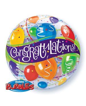 Bubbles Congratulations Ballons