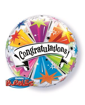 Bubbles Congratulations Banner Blast