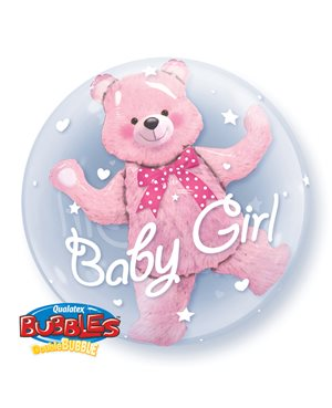 Double Bubbles Baby Pink Bear