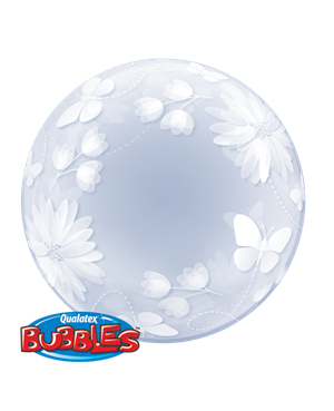Deco Bubble - Butterflies & Flowers