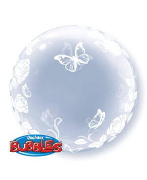 Deco Bubble - Elegant Roses & Butterflies