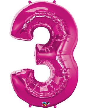 Number Three - Magenta