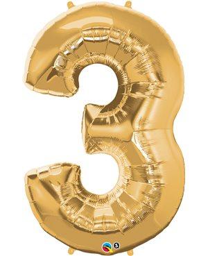Number Three - Metallic Gold