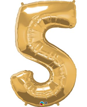 Number Five - Metallic Gold