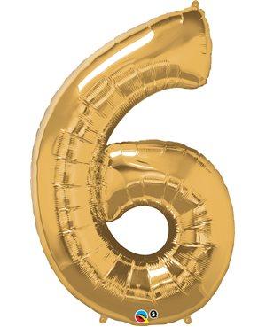 Number Six - Metallic Gold
