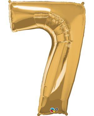 Number Seven - Metallic Gold