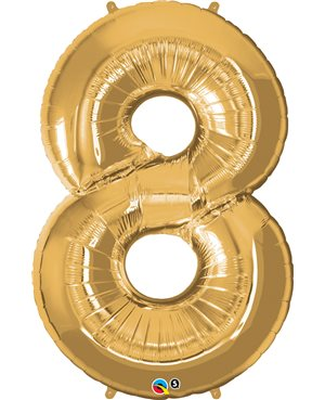 Number Eight - Metallic Gold