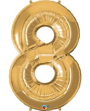 Number Eight - Metallic Gold