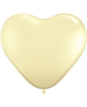 Ivory Silk Heart