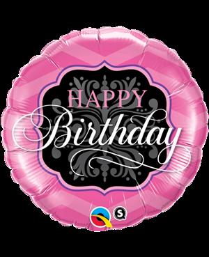 Birthday Pink & Black