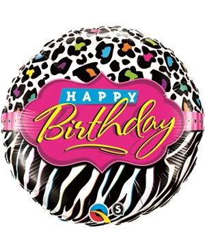 Birthday Leopard Zebra Patterns