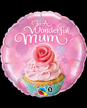 To A Wondeful Mum Cupcake