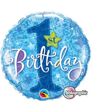 1st Birthday Star Blue