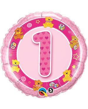 Age 1 Pink Teddies