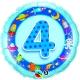 Age 4 Blue Spaceship & Aliens