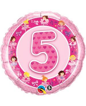 Age 5 Pink Ballerinas