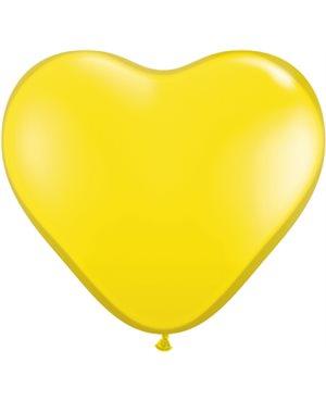 Citrine Yellow Heart