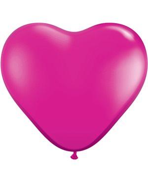 Jewel Magenta Heart