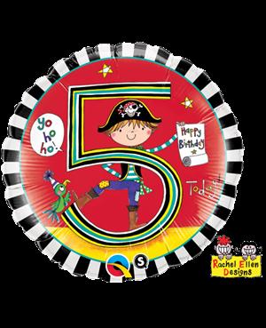 Rachel Ellen - Age 5 Pirate Stripes