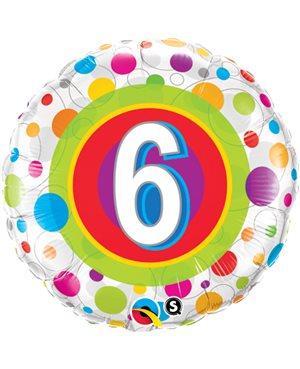 Age 6 Colourful Dots