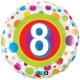 Age 8 Colourful Dots