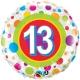 Age 13 Colourful Dots