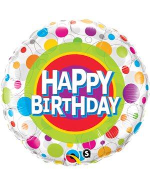 Happy Birthday Colorful Dots