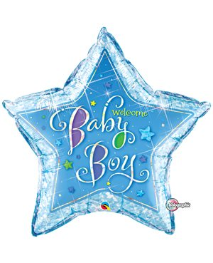 Welcome Baby Boy Stars - 36''