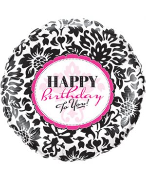 Birthday Elegant Damask