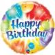 Birthday Balloons Ablaze Blue