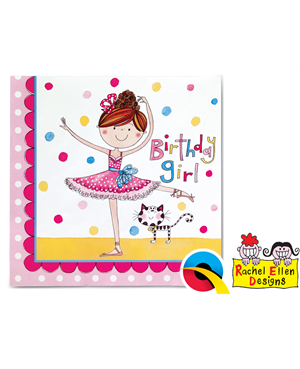 Ballerina Partyware Party Napkins