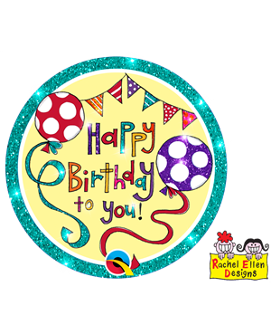 Rachel Ellen - Happy Birthday Banner & Balloons