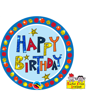Rachel Ellen - Happy Birthday Multi-Coloured