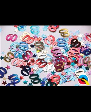 Confetti Age 60 Multi-Coloured Birthday