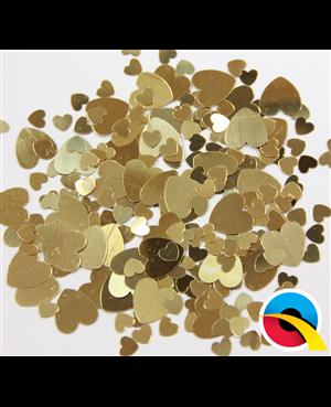 Confetti Gold Hearts