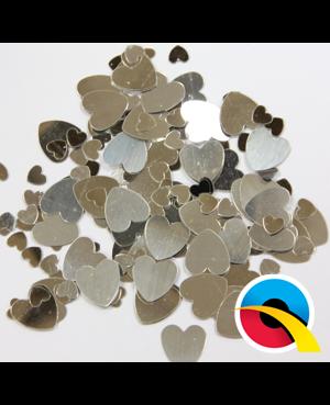 Confetti Silver Hearts