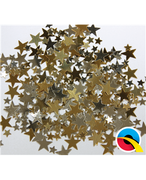 Confetti Gold & Silver Stars