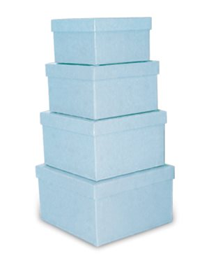 Nets of Squares Boxes - Pale Blue