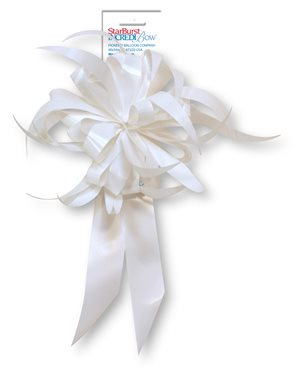 Starburst Bow - White