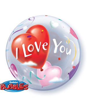 I LOVE YOU HEART BALLONS (Minimo 3 Unid)
