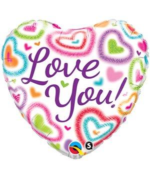 Love You ! Fuzzy Hearts