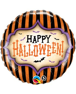 "Halloween Stripes -18""- Minimo 3 Unid"