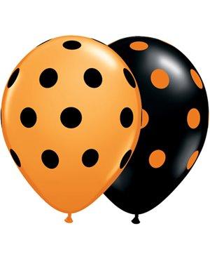 """Big Polka Dots - 11"""" - Surtido -25 Unid"""