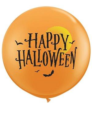 Halloween Moonn & Bats - 3´Orange -2 Unid