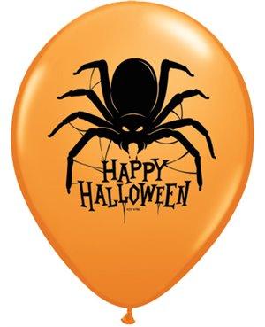 """Halloween Spider -11"""" Orange -25 Unid"""