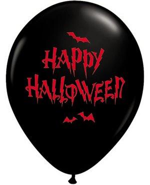 "Haunted Halloween Bats - 11"" Onyx Black 25 Unid"
