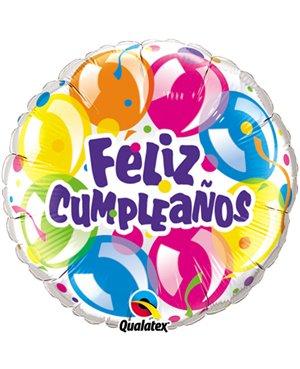 "Cumpleaños Sparkling Balloons 18"" 01ct"