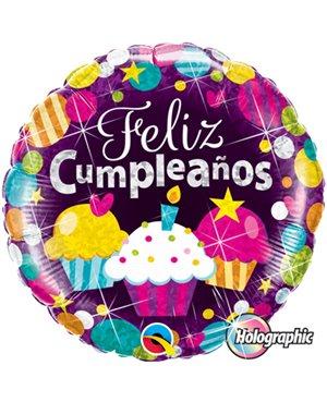 "Cumpleaños Cupcakes 18"" 01ct"