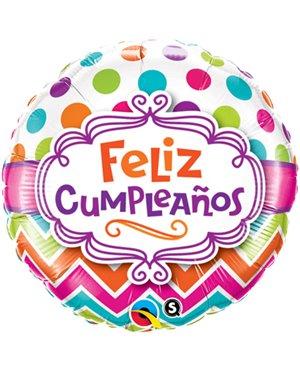"Cumpleaños Chevron 18"" 01ct"
