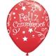 Globos de Látex en Español- Feliz Cumpleaños Surtido 50ct